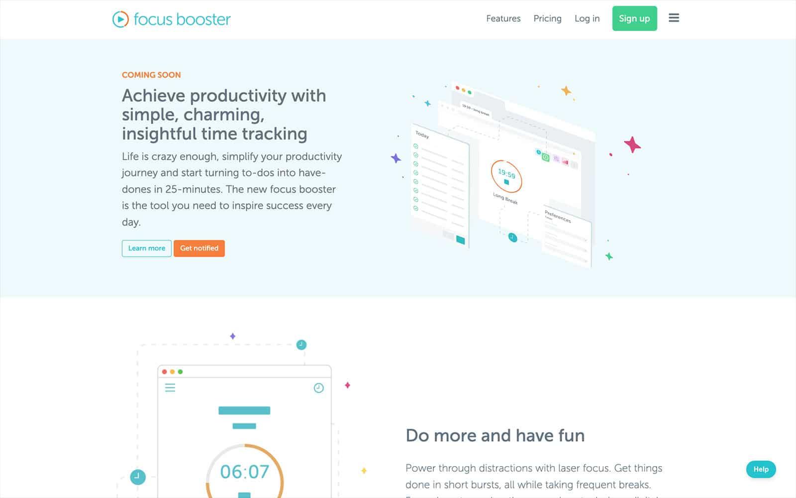 focus booster pomodoro app