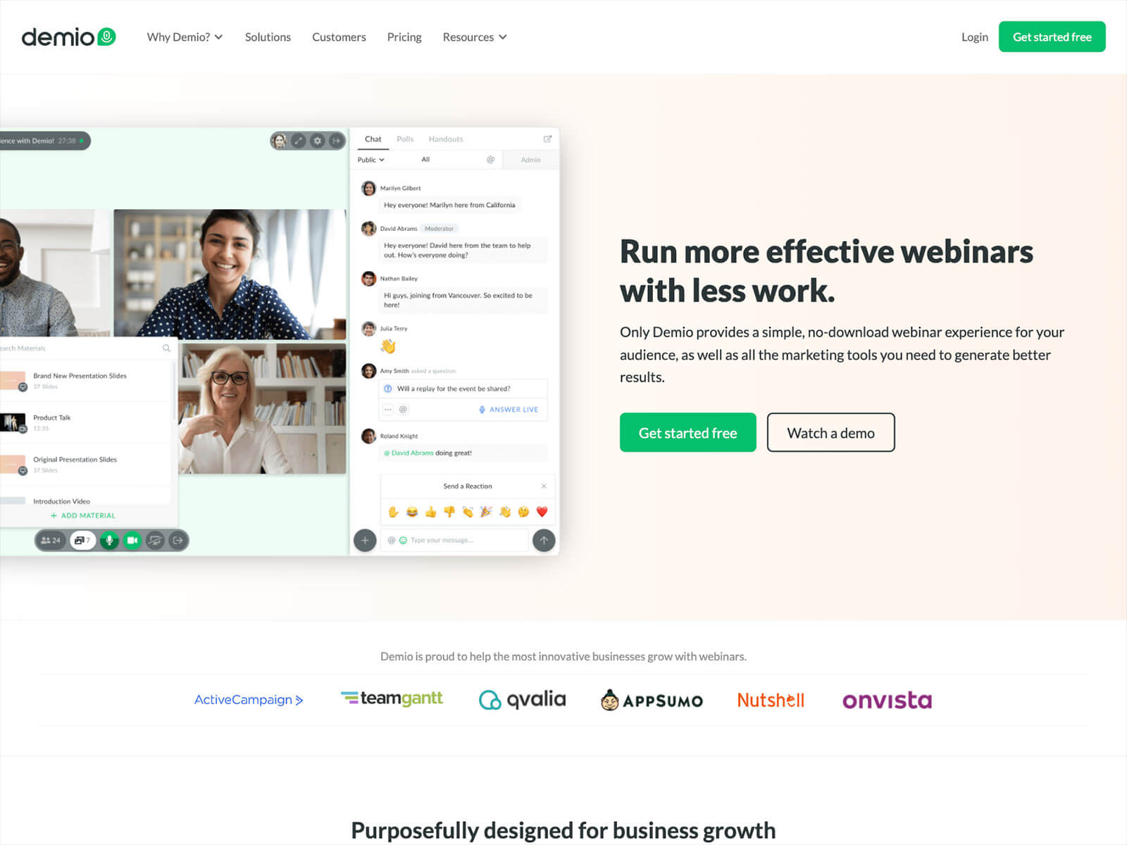 Demio Hassle free Webinar Software for Marketers