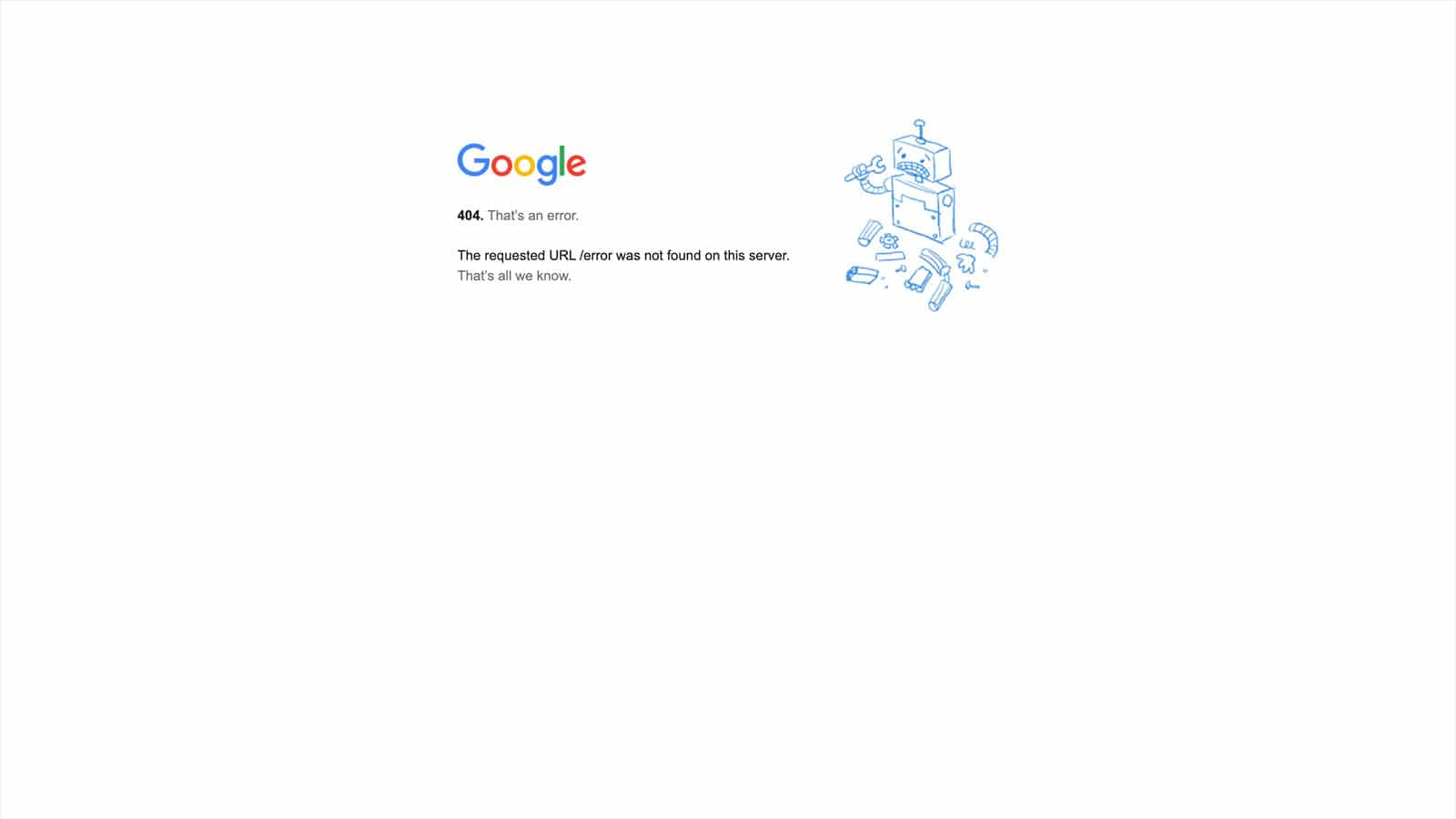 page not found google